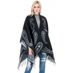Flower Beach Poncho(Cover-Up)